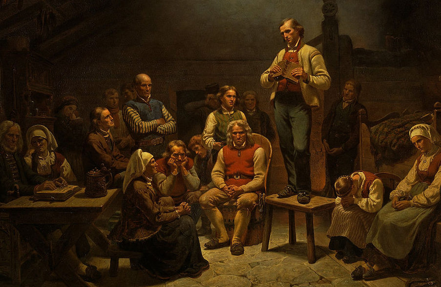 Maleri av Adolph Tidemand «Haugianerne»